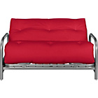 more details on ColourMatch Mexico Futon Sofa Bed with Mattress - Poppy Red.