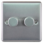 more details on Masterplug Double 2 Way Dimmer Switch - Brushed Steel.