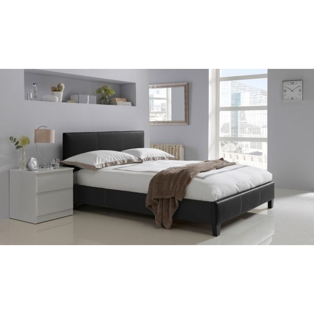 Buy Hygena Constance Small Double Bed Frame Black At Your Online Shop For Bed