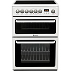 more details on Hotpoint HAE60P Double Electric Cooker - White/Ins/Del/Rec.