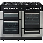 more details on Bush BCYU100DFSS Dual Fuel Range Cooker - Ins/Del/Rec.
