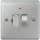 more details on Masterplug 13A Connection Unit - Brushed Steel.