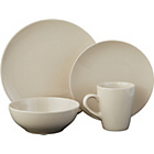 more details on Bosa 16 Piece Coupe Stoneware Dinner Set - Natural.