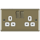 more details on Masterplug Double Switched Socket - Pearl Nickel.