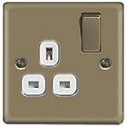 more details on Masterplug Single Switched Socket - Pearl Nickel.