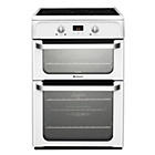 more details on Hotpoint Ultima HUI612 P Freestanding Cooker - White