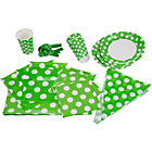 more details on Decorative Dots Party Kit for 16 - Lime Green,