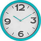 more details on ColourMatch Aqua Cased Wall Clock.