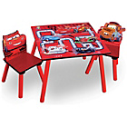 more details on Disney Cars Wooden Table and Two Chairs.