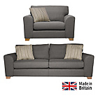 more details on Collection Ashdown Extra Large Sofa and Cuddle Chair - Grey.