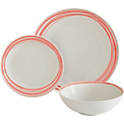 more details on ColourMatch Scratch 12 Piece Porcelain Dinner Set - Coral.