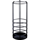 more details on Habitat Saunders Metal Umbrella Stand - Black.