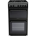 more details on Hotpoint HAG51K Single Gas Cooker - Black.