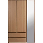 more details on New Denver 3 Door 2 Drawer Wardrobe - Oak Effect.