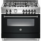 more details on Bertazzoni A905MFENEE Master Dual Fuel Range Cooker - Black.