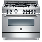 more details on Bertazzoni A905MFEXE Master Dual Fuel Range Cooker - SSteel.