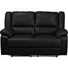 more details on Bruno Leather Effect Regular Recliner Sofa - Black.