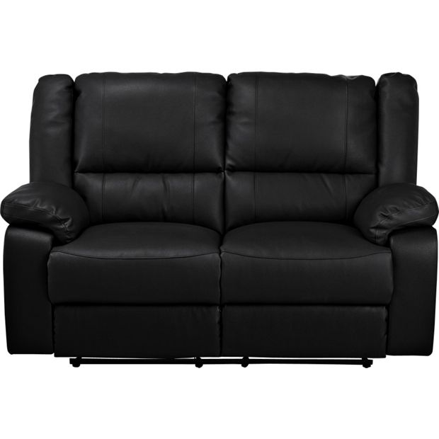 Buy Home Bruno 2 Seater Leather Effect Manual Recliner