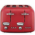 more details on De'Longhi Argento 4 Slice Toaster - Red.