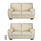 more details on Milano Regular and Regular Leather Sofas - Ivory.