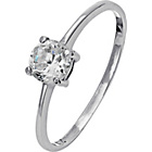 more details on Sterling Silver Cubic Zirconia Solitaire Ring - Size N.