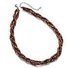 more details on Fiorelli Bronze Faceted Bead Twist Necklace.