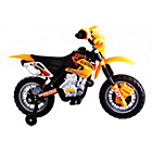 more details on Dirt Bike Style Ride On Bike - Yellow.
