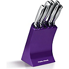 more details on Morphy Richards Accents 5 Piece Knife Block - Purple.