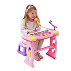 more details on Chad Valley Sing Along Keyboard, Stand and Stool - Pink.