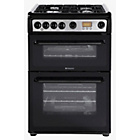 more details on Hotpoint HAG60K Double Gas Cooker - Black/Ins/Del/Rec.