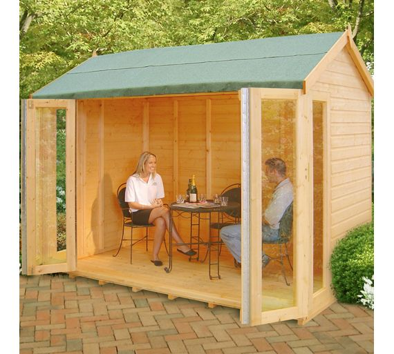 buy homewood blenheim wooden summerhouse 10 x 6ft at. Black Bedroom Furniture Sets. Home Design Ideas