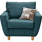 more details on Heart of House Colby Fabric Chair - Teal.