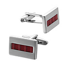 more details on Transparent Red Enamel Cufflinks.
