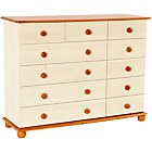 more details on Stavern 4+7 Drawer Chest - Pine and Cream.