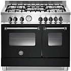more details on Bertazzoni AD905MFENEE Master Dual Fuel Range Cooker - Black