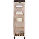 more details on Polycotton and Wood 5 Shelf Storage Unit - Cream & Chocolate