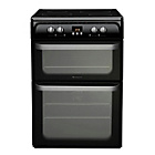 more details on Hotpoint Ultima HUI614 K Freestanding Cooker - Black