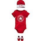 more details on Converse Unisex Red 3 Piece Gift Set - 0-6 Months.