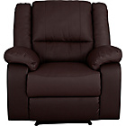 more details on HOME Bruno Leather Effect Manual Recliner Chair - Chocolate.
