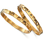 more details on Fiorelli Gold Coloured Stone Set Bangles - Set of 2.