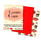 more details on Good Housekeeping Luscious Cakes Pack of 3 Tea Towels - Red.