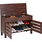 more details on Slatted Hallway Shoe Storage - Mahogany Effect.