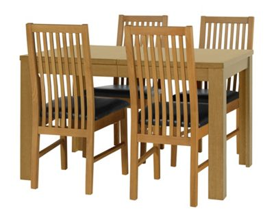 Buy HOME Penley Extendable Table and 4 Paris Chairs Oak  : 3552830RSETTMBampwid620amphei620 from argos.co.uk size 620 x 620 jpeg 41kB