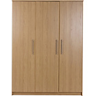 more details on Normandy 3 Door Large Wardrobe - Oak Effect.