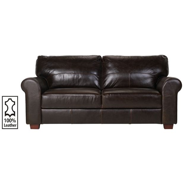 Buy heart of house salisbury 3 seater leather sofa for Leather sofa 7 seater