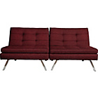 more details on HOME Duo Fabric Clic Clac Sofa Bed - Red.