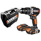 more details on Worx Heavy Duty 20V Brushless Hammer Drill with 2 Batteries.