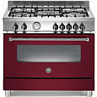 more details on Bertazzoni A905MFEVIE Dual Fuel Range Cooker - Burgandy.