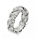more details on Sterling Silver CZ Criss-Cross Full Eternity Ring - Size J.