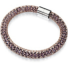 more details on Fiorelli Purple Crystal and Rose Gold Mesh Bracelet.